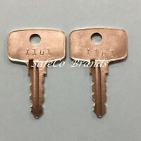 2 Snap-On Toolbox Lock Keys Code Cut Y101 thru Y150 Snap On Toolbox Locks Key