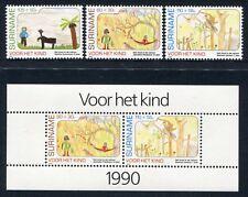 SURINAM 1990 Kinderzeichnungen Childrens Drawings 1353-55 + Bl.54 ** MNH