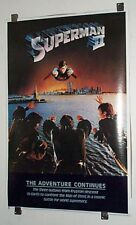 "Original 1980 DC Comics Christopher Reeve 35 by 23"" Superman II movie poster:JLA"