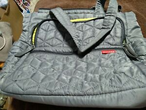 Diaper Bag. Grey And Green. Lots Of Compartments To Carry Items!! Skip Hop Brand