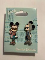 DLR Pin Of The Month – Bon Vivant #5 2 Pin Set Mickey Minnie Disney Pin LE (B)