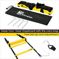 XPRT Fitness Agility & Speed Ladder  Soccer Training 12 Rungs 20 Feet Carry Bag