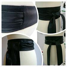 Obi Belt Sash Belt Tie Wrap Corset Real Leather Handmade Retro Vintage UK Poltsa