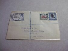 NIUE Cook Islands Stamps On 1922 Registered Cover To New Zealand