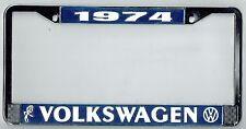 1974 Volkswagen VW Bubblehead Vintage California License Plate Frame BUG BUS T-3