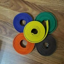LOT Taekwondo Karate Belt Martial Arts Judo Jiu-Jitsu Cotton Ylw/Org/Brn/Pur/Grn