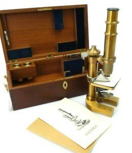 Carl Zeiss Mikroskop Stativ VII 474/1000 Nachbildung mit Holzbox Anleitung jp009