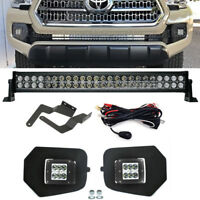 For 16-UP Toyota Tacoma 24W LED Fog Light Pod Lower Bumper Plug Wire Bracket Kit
