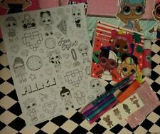 L.O.L Surprise! Doll Gift bundle stationary set Note pad, Stickers & 10+ items