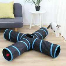 Cat Tunnel Toys for Pet Kitten 4 Holes Collapsible Crinkle Cat dog Playing Tube