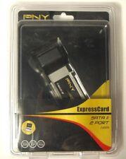 Pny ExpressCard Sata Ii 2 port eSata P-Nsa2-Ec-Rf Brand New