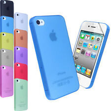 Custodia ultra SLIM FROSTED MATTE per APPLE IPHONE 4 4G 4S 0,3 MM COVER + 1 PELL