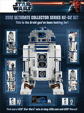 LEGO Star Wars - 2012 Limited Edition Poster RD-D2 10225 UCS Minifigure R2D2