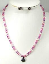 Parure collier et boucles d'oreilles Hello Kitty rose et violet