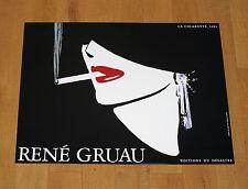 LA CIGARETTE 1983 RENé GRUAU poster manifesto affiche pubblicitario advertising