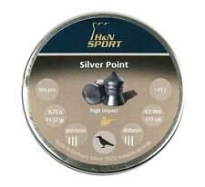 .177 H&N Silver Point (aka Beeman Silver Arrow) Pointed Pellets - 11.5 Gr 500 Ct