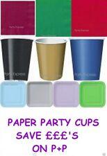 Unique Party 9oz Gold Paper Cups Pack of 14