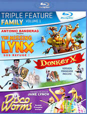 Family Triple Feature Vol. 1 (Blu-ray 2012)Missing Lynx,Donkey X, Disco Worms