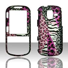 Pink Leopard Zebra  for Samsung Intensity III 3 U485 Case  Cover Snap CM