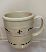 """LONGABERGER Woven Traditions Pottery HERITAGE Green 4"""" Coffee Tea Cup Mug"""