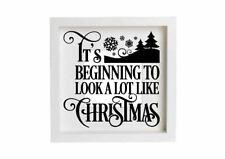 Beginning To Look Like Christmas Decal Vinyl Sticker Box Frames Decorations DIY