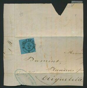 Italy Sardinia antichi stati 1853 20 cent.azzurro su busta  N.5