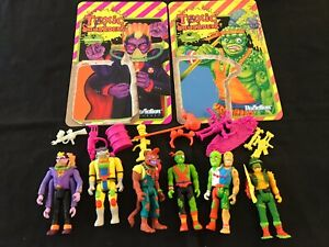 Super7 ReAction Toxic Crusaders Set of 6 Loose Toxie Junkyard Major Disaster