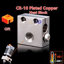 iU3D Swiss CR10 Plated Copper Heater Block For CR-10 Ender 3/V2 Ender 5 Hotend