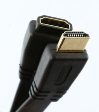 FLAT HDMI EXTENSION Cable Male - Female 1.4 3D High Speed + Ethernet BLACK 2m