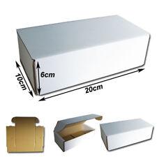 25  Cajas Postales 20x10x6cm Automontables de cartón canal simple. BLANCAS