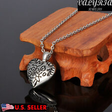VALYRIA Kid's Drawing Heart Cremation Jewelry Keepsake Memorial Ash Urn Necklace