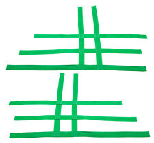 Raptor 660 350 Warrior Blaster 200 Nerf Bar Nets Fit Alba Tusk  Green  A