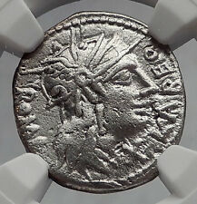 Roman Republic ROME vs Greek Seleukid King ANTIOCHOS III Silver Coin NGC i60208
