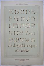 Art Nouveau Schriften Orig Lithografie F. Schweinmanns Jugendstil 1900