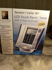 Innovage Products Talking Caller ID LCD Touch Panel Phone Silver/Blue Free Ship