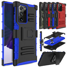 For Samsung Galaxy Note 20 Ultra 10+ 5G Shockproof Stand Clip Holster Case Cover