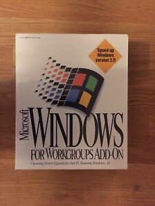 Microsoft Windows for Workgroups Add-on Upgrade for 3.1. New, Sealed in Box 1994