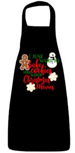 Baking Christmas movie Apron black ladies seasonal kitchen dining Xmas gift new