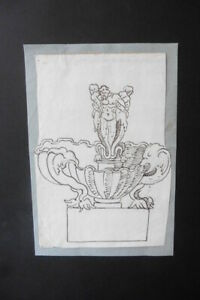 ITALIAN-BOLOGNESE SCHOOL 18thC - CLASSICAL FIGURE STUDIES BY ROSSI - INK DRAWING