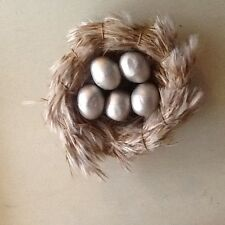 Feather Nest with Champange Eggs Clip on Ornament - Free Shipping