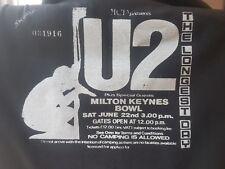 U2 Ticket stub T shirt Vintage retro Handmade The longest Day show Milton Keynes