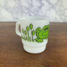Vintage Fireking Anchor Hocking Hildi Frog Toad Coffee Mug Cup