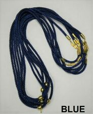 """Jewelry Making-16 3mm Soft Fine Rope Necklace W/Pendant Connector-19""""/29 4;-New"""