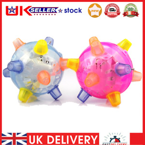 Jumping Activation Ball for Dogs - Music LED Bouncing Pet Ball Toys, Random