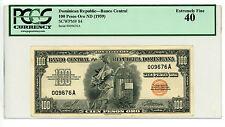 Dominican Rep … P-84 … 100 Pesos Oro … ND(1959) … *XF++*