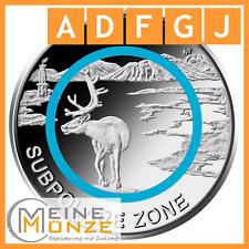 5 Euro Münze SUBPOLARE ZONE A D F G J Satz Deutschland 2020 aus Rolle mit Kapsel