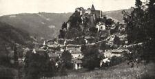 LOIRE. Cornillon- sur- Loire 1900 old antique vintage print picture