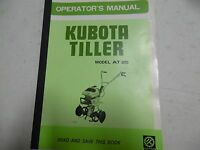 Kubota Tiller AT 25 Operator's Manual