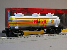 LIONEL SHELL O GAUGE 3 DOME TANK CAR train oil gas tanker fuel 6-83243 NEW