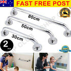 2 X Stainless Steel Bathroom Shower Wall Grab Bar Safety Grip Handle Towels Rail